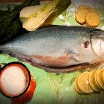 Риба, запечена з фенхелем, імбиром, цитринкою і зелениною
