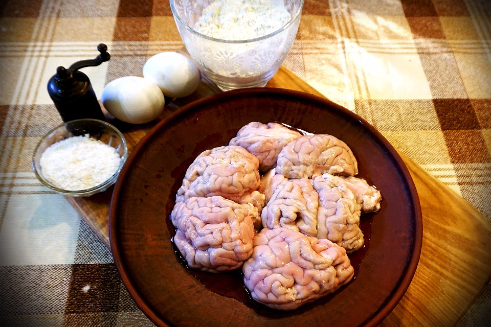 смажений телячий мозок