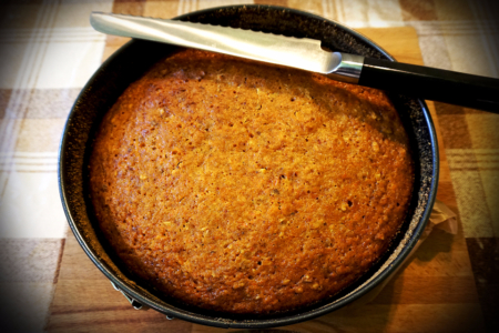 Морквяно-імбирний тортик. Carrot-ginger cake.
