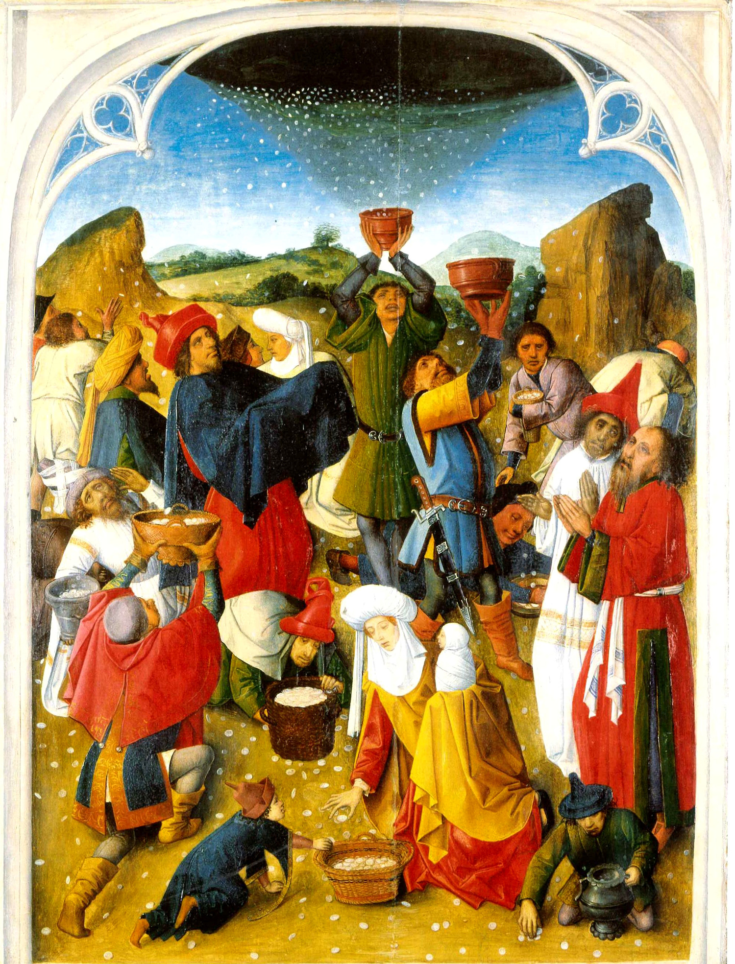 The Gathering of the Manna, c. 1460-1470.
