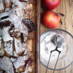 Яблуковий пляцок з цільнозернової муки